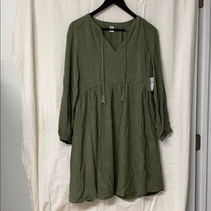 Old Navy Green Boho Dress
